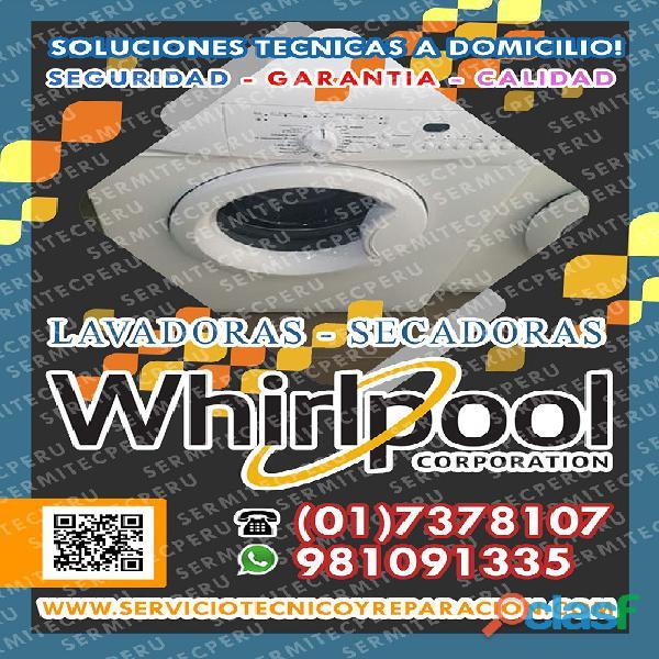 WHIRLPOOL > Técnicos expertos en LAVADORAS INDUSTRIALES
