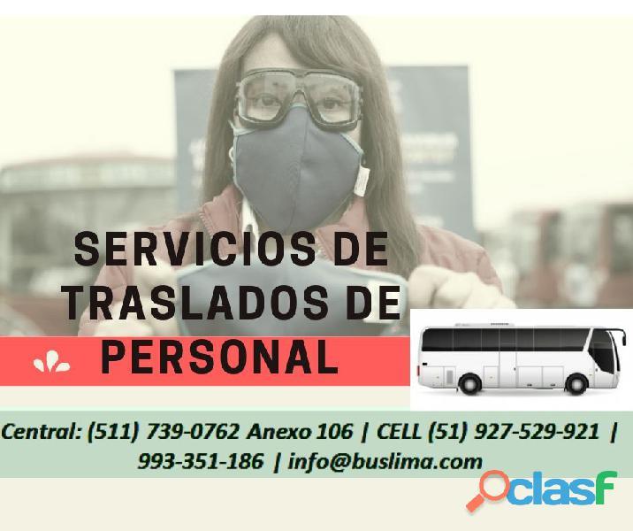 Servicios de Traslado de personal Para Empresas en Lima y