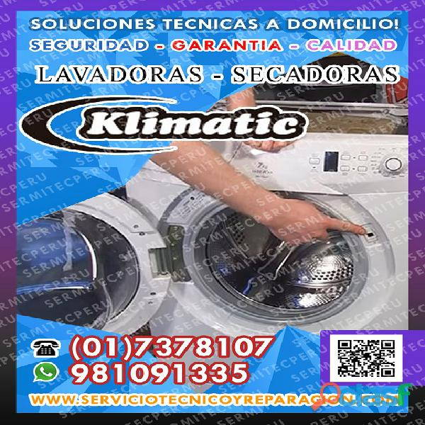 ¡A toda Hora!! Técnicos de LAVADORAS Klimatic >> Villa el