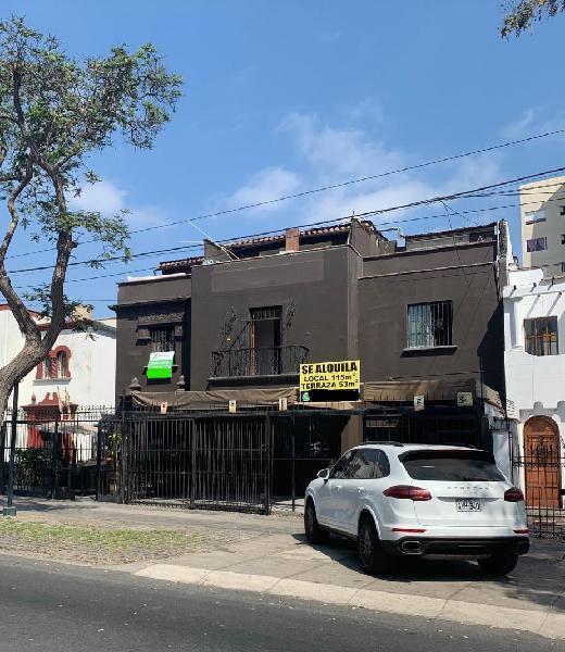 Se Alquila local comercial en pleno corazón de Miraflores