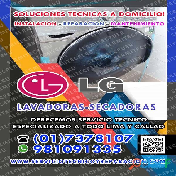 CON GARANTIA| REPARACIÓN DE LAVADORAS LG 7378107 >San Juan