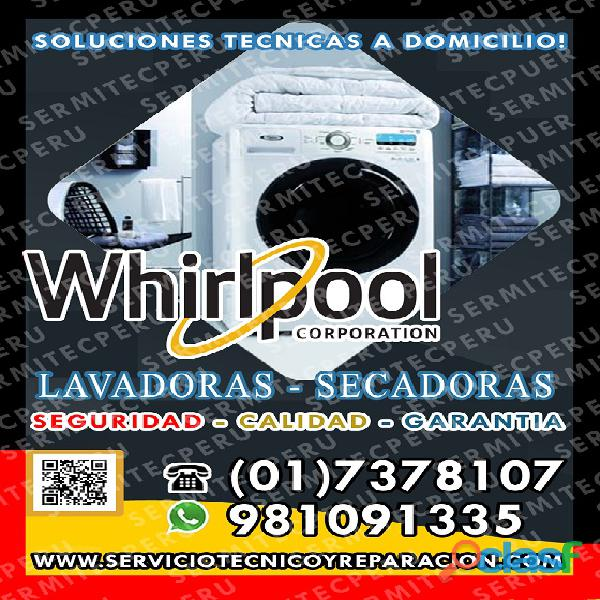 Operativos!! 7378107 *TECNICOS DE LAVADORAS WHIRLPOOL>>
