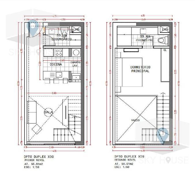 Pre venta duplex 1 dormitorio, zona Golf 57m2