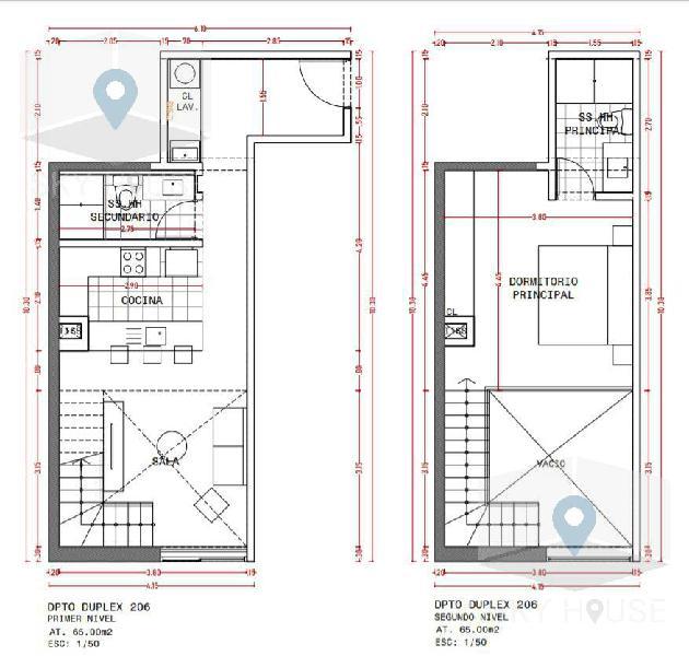 Pre venta duplex 1 dormitorio, zona Golf 62 m2