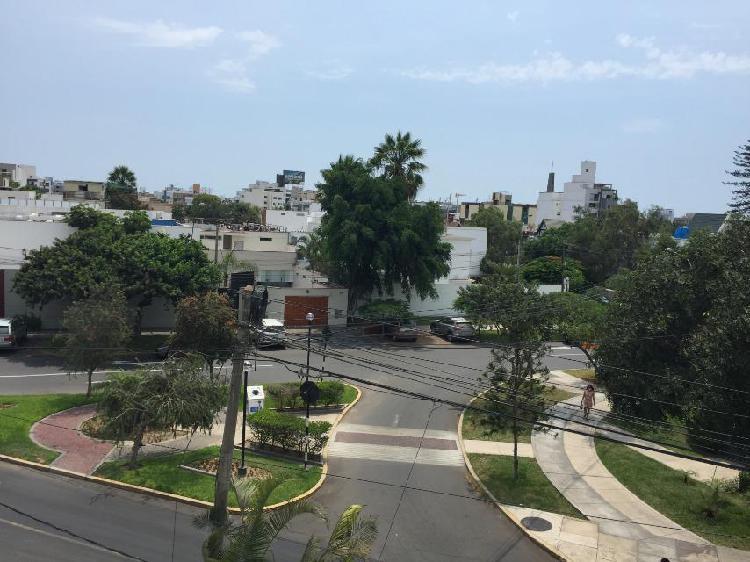 Lindo flat con vista a parque / 1er piso - Miraflores