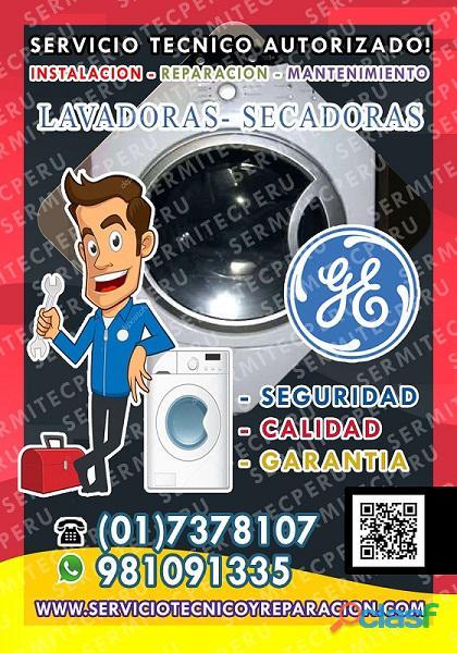 RAPIDEZ >> Técnicos de Lavadoras GE La Molina